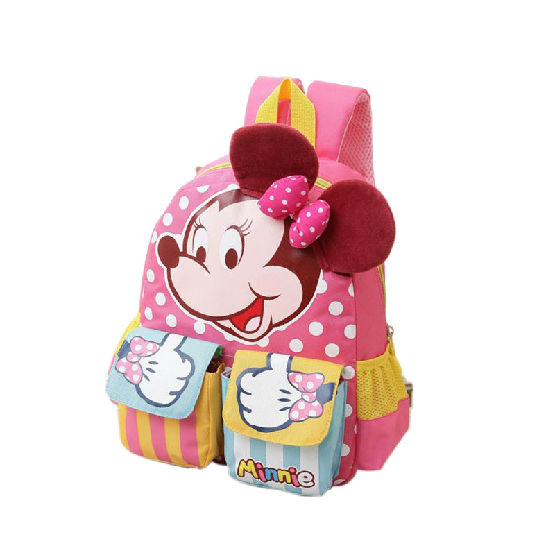 Minnie Mouse Backpack for Boys Girls Schoolbag for Teenagers Cartoon Print Children School Bag for Students Child Kids Mochila 2018 girls last tour backpack shoujo shuumatsu ryokou schoolbag for middle school students