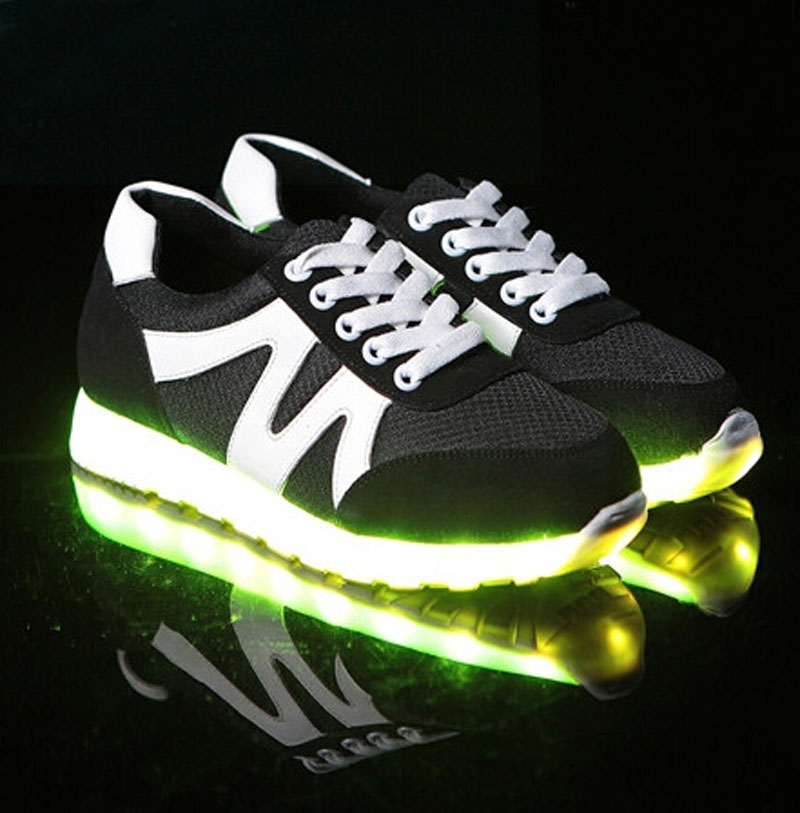 Men's Shoes Led Shoes Men Nice Fashion Causal Led Luminous Shoes Lovers Fashion Basket Led Light Up Shoes For Adults Men Shoes 7c11 Shoes