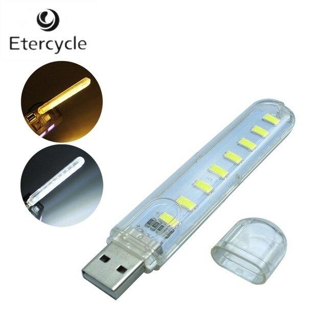 Портативный 5730 SMD 8 USB LED Light для настольных ПК ноутбуков Тетрадь чтения USB-гаджеты