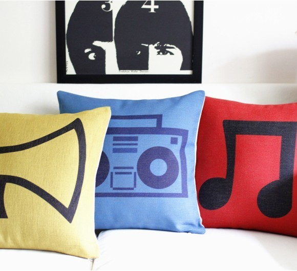 Vintage style print pillow case 3 pcs/lot set  personalized pillows decorate for a sofa 45 45 cm 3 pcs/lot set