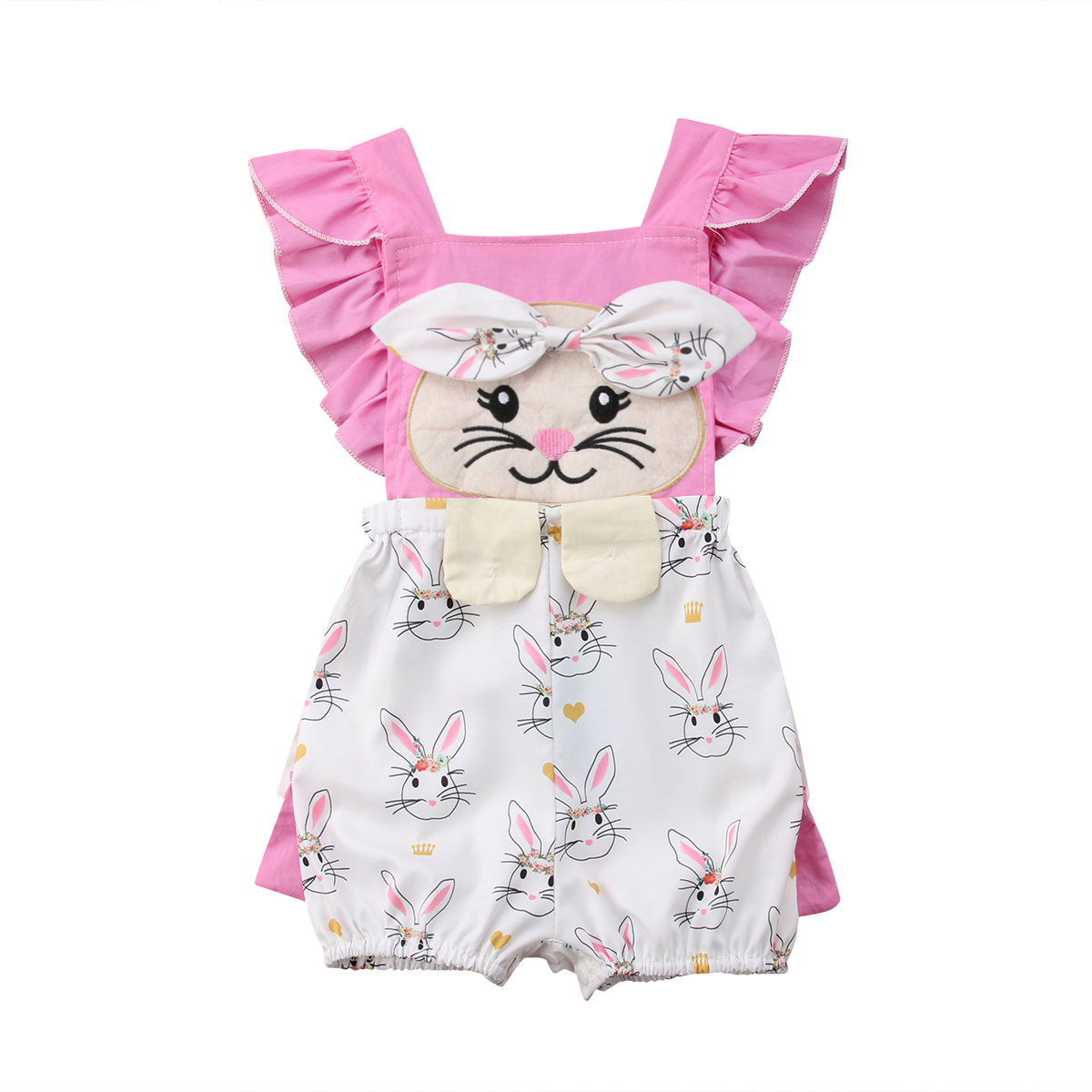 sister matching little sister big sister bunny jumpsuit