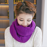 Warm Winter Scarf Woolen Hijab Knit Crochet Snood Desigual Brand Luxury Ring Scarves Magic Foulard MF968541