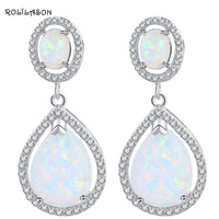 Best Christmas Gifts For Friends Wholesale Retail Blue Fire Opal 925 Silver Drop Earrings Fashionl Jewelry