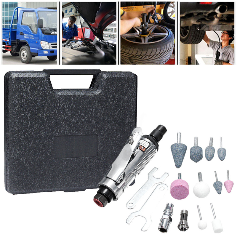 16Pcs 1/4'' Air Compressor Die Grinder Air Grider Tool Kits Rotary Tool Polish Stones Kit for Pneumatic Tools W/Case  wholesale 5pcs 10 pcs mounted grinding stones air micro die grinder tool kit