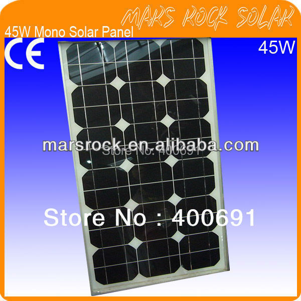 45W 18V Monocrystalline Solar Panel Module with 36 A Grade Mono Solar Cells, Nice Appearance, Good Performance, Long Lifecycle