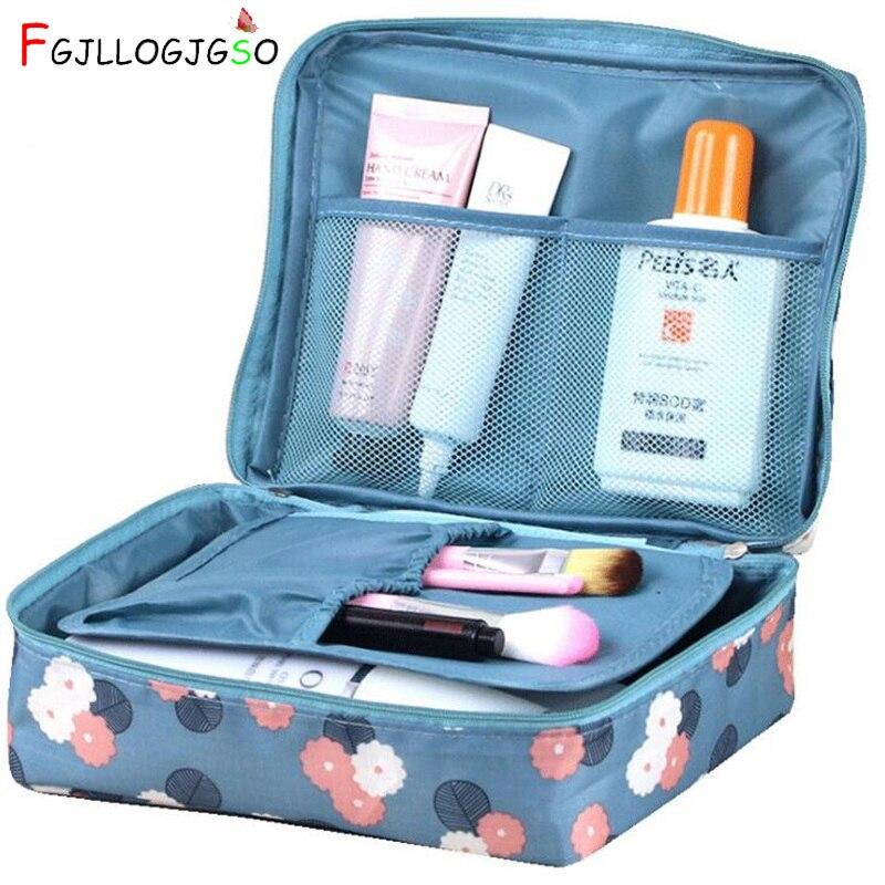 FGJLLOGJGSO 2018 Neceser Maquillaje Brand Women Cosmetic Bag Wash Toilet Organizer Case Multifunctional Waterproof Zipper Makeup