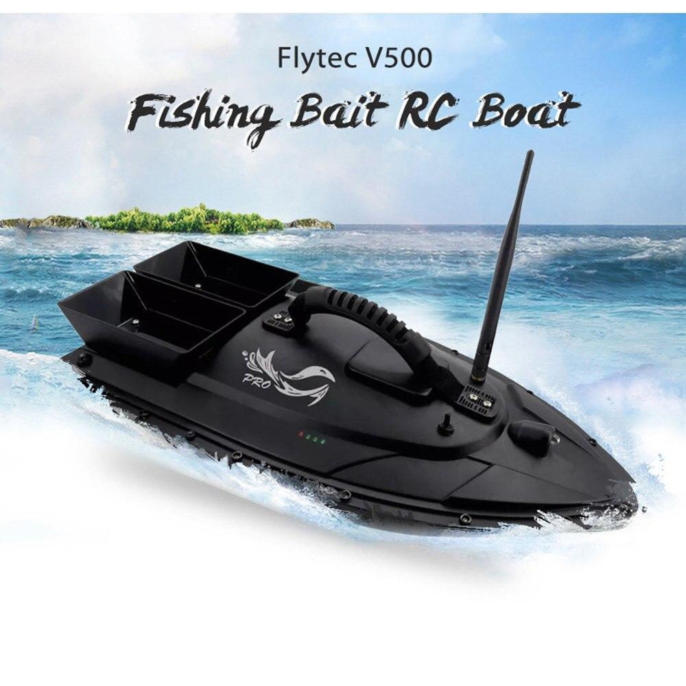 Flytec V500 Inventor Dos Peixes de Isca De Pesca Barco RC 5.4 kmh Velocidade Máxima de Carga Do Motor Duplo Grande Design À Prova D' Água Barcos RC brinquedos Presentes
