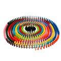 120 unids/set Niños Bloques de Dominó De Madera del Arco Iris de Colores Tipo Niños Primeros Juguetes De Madera Educativos Regalos para Niños Set ZS021