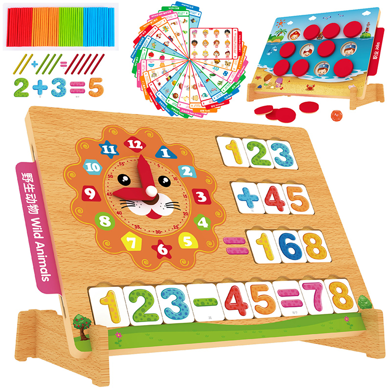 logwood multi functional wooden toys baby education magnetic jigsaw puzzle children drawing frame montessori 3d