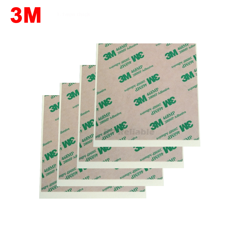 4pcs 10cm Square 3M 468MP 200MP Adhesive Clear Double Sticky Sticker For Phone, Panel Nameplate Thermal Bond, Key Button Repair