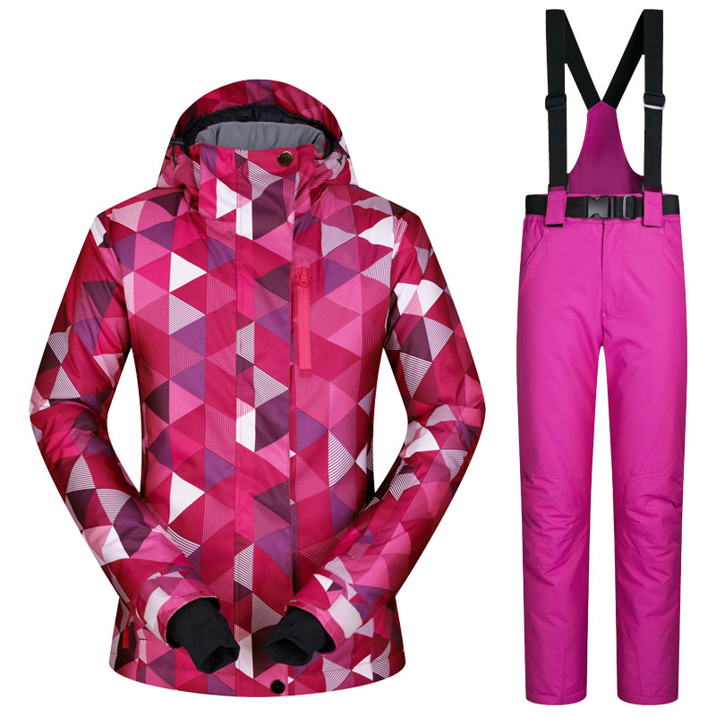 Ski Suit Female Windproof Waterproof Thicken Clothes For Women Snowboard Jacket And Pants Brand Coat And Trousers Winter Wear 30 new styles festival gifts top trousers lifestyle suit casual clothes trousers for barbie doll 1 6 bbi00636