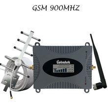 LCD Ekran GSM 900 Mhz Cep Telefonu Sinyal Booster Hücresel GSM 900 Sinyal Tekrarlayıcı Cep Telefonu Amplifikatör 3G Sinyal Için Set ev