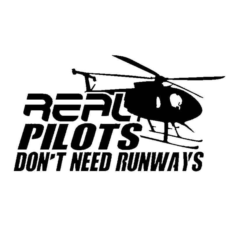 18 см * 9,8 см настоящие пилоты не Meed Bunways гигантский вертолет виниловая Автомобильная наклейка нежная наклейка Стиль