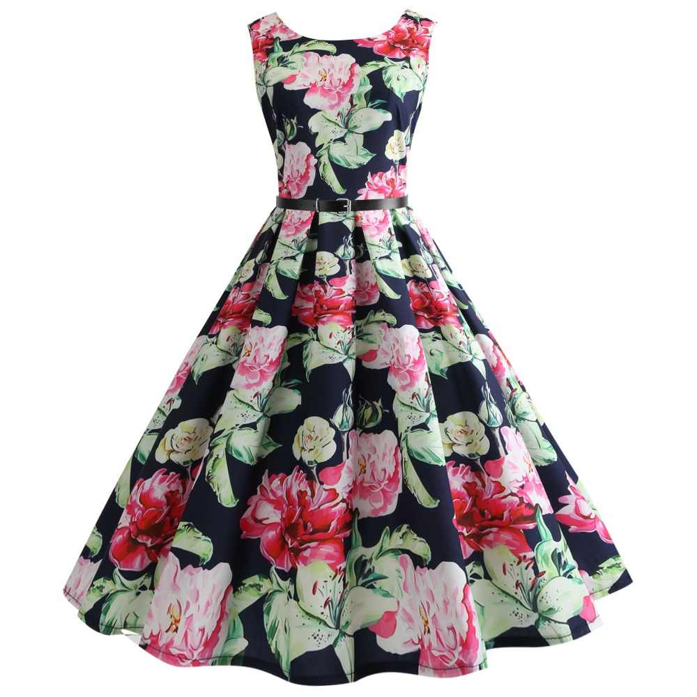 66d0137a49 Teens Girls Dress 2019 Dresses Summer Girls Dresses Floral Print Teenager  Party Dress For age 10-20 year girls clothing