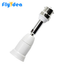 New Flexible E27 to B22 LED Lamp base Bulb Socket PC+ aluminum White With 10CM Extension Light Holder Converters(China)