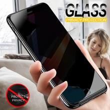 안티 스파이 강화 유리 아이폰 7 6 6 s 8 플러스 x xs xr 개인 정보 보호 화면 보호 필름 아이폰 6 7 8 xs 최대 보호 유리