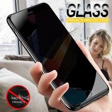 Tela de vidro temperado para privacidade, película protetora anti olhares para iphone 7, 6, 6s, 8 plus, x, xs, xr vidro protetor para iphone, 6 7 8 xs max