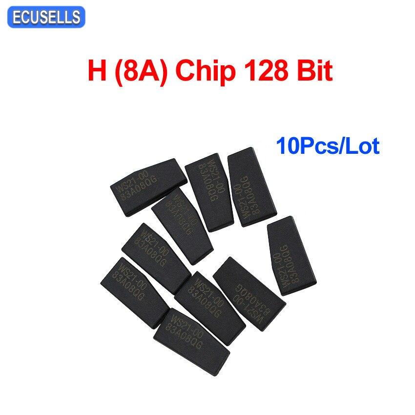 10 Pcs Lot Car Key Chip Key Blank New Transponder H 8A Chip 128 Bit for