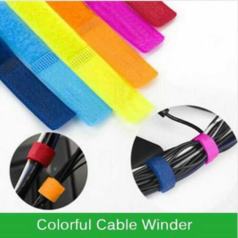 2018 10 st kabelhaspel gewikkeld Cord Line Plug Oortelefoonkabel Spoelopwinder Clip Houder Wrap Wire Organizer wirding draad tool