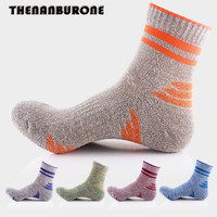 THENANBURONE Fashion Winter Socks Mens Solid Classical Striped Socks Cotton Casual Soft Ankle Socks For Men