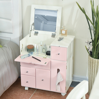 resser dresser dresser simple Korean wooden bedroom makeup makeup cabinet flip table