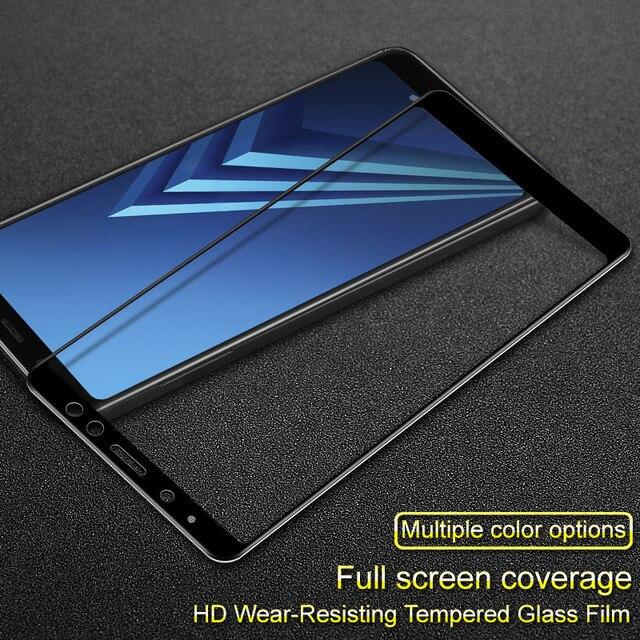 bac7d4e1f Para Samsung Galaxy A8 2018 Glas Protetor De Tela iMAK Completo cobertura  de Vidro Temperado Película