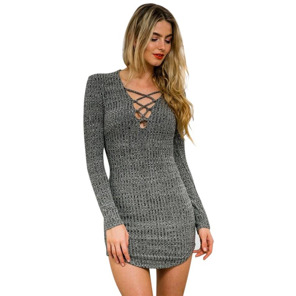 Popular Women Knit Dresses-Buy Cheap Women Knit Dresses lots from ...