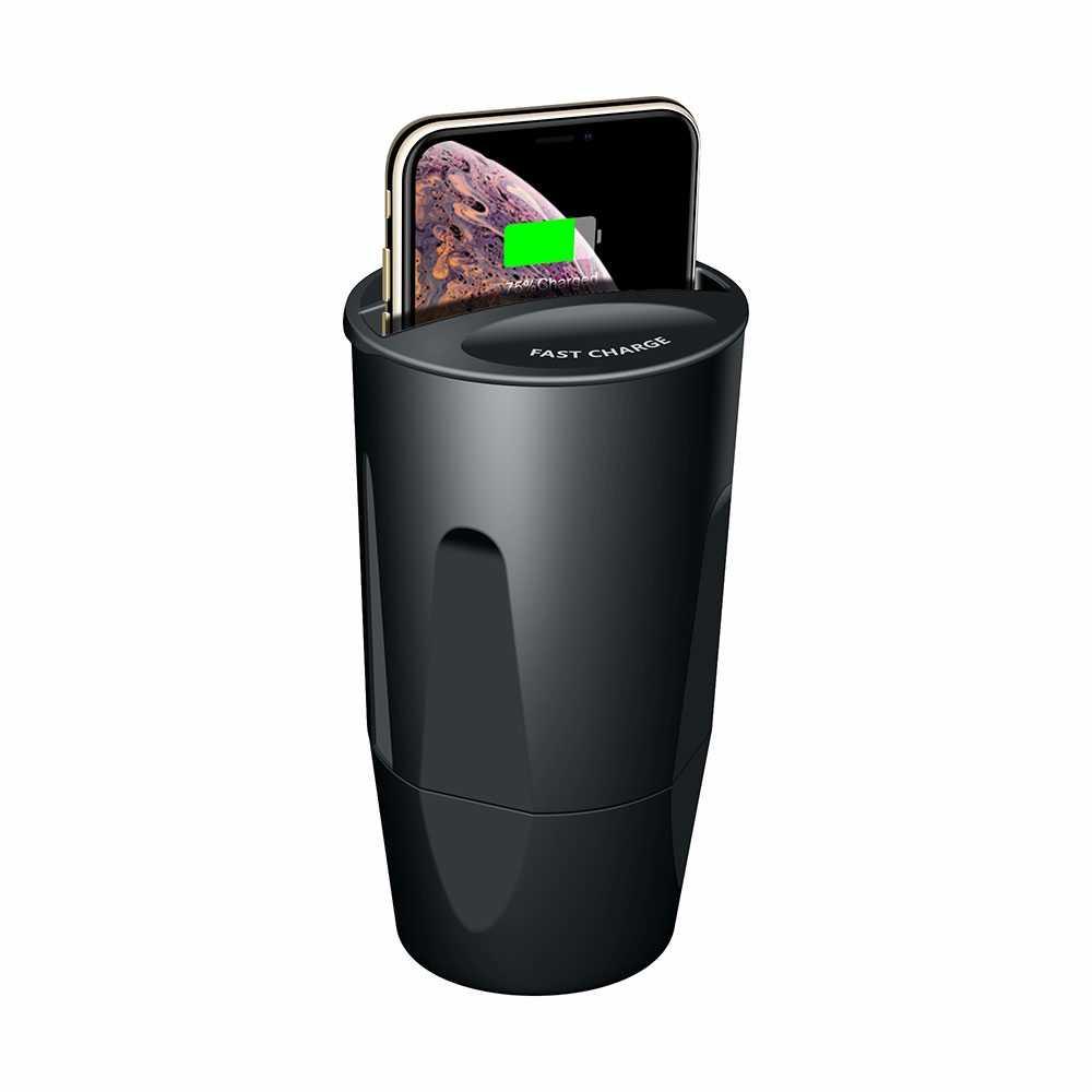 KISSCASE チー車のワイヤレス充電器 iphone × XR XS 最大 7 8 プラス車カップ急速充電急速充電器サムスン S10 S9 S8 プラス