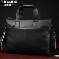 Luxury Famous Brand Natural Genuine Leather Men Bag Fashion Big Volume Handbag 14 Laptop Bag Durable