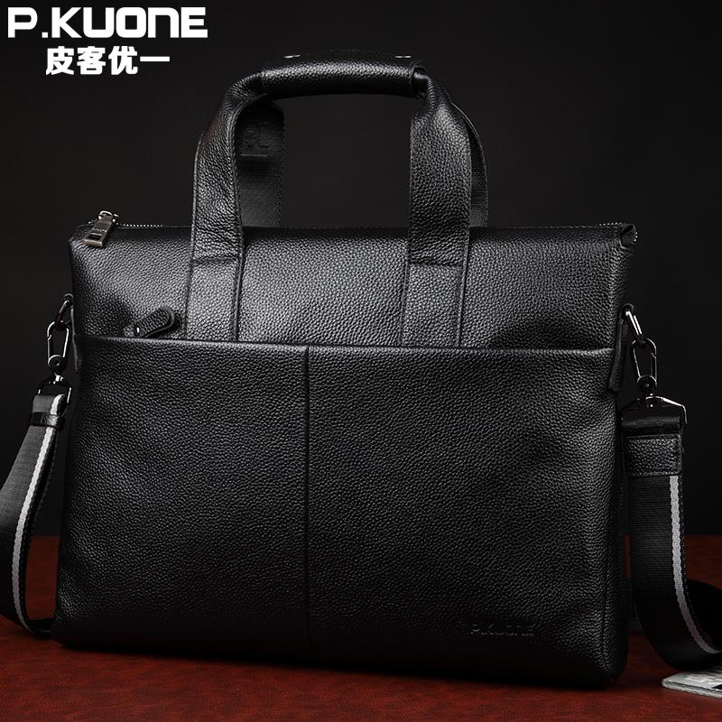 Luxury Famous Brand Natural Genuine Leather men bag Fashion big Volume handbag 14 Laptop bag Durable Business briefcase