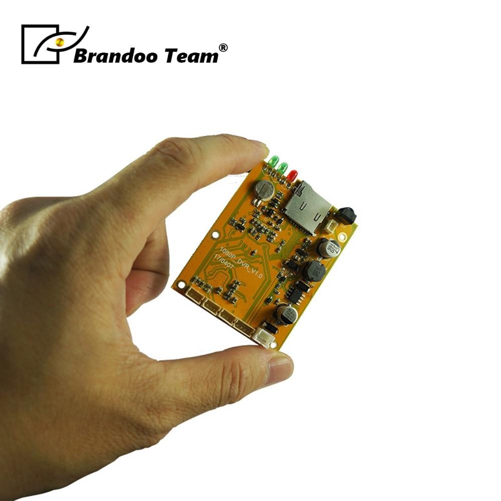 1 canal 1080 P SD DVR Module 128 GB Micro carte SD mémoire utilisée fonctionne avec 2.0mp AHD caméra.