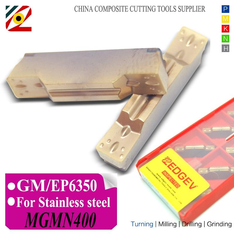 EDGEV CNC karbidové destičky MGMN300 MGMN400 GM soustruh fréza Wolframové zapichovací soustružnické nástroje Obrábění SS nerezová ocel