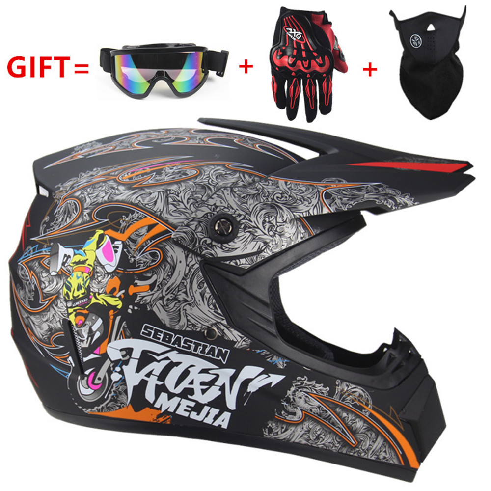 2019 Professional Racing Motocross Casque hors route Casque Moto Capacete Moto Casco Off road Cartoon Children