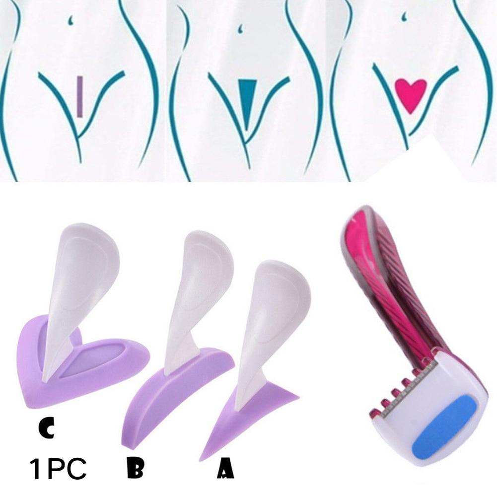 Privates Shaver Triangle Shaping Tool Pubic Female Secret Razor Sexy Intimate Heart Bikini Silicone Trimmer Shaving Stencil Line