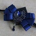 Novo Frete Grátis moda multicamadas arco colar de diamantes Coreano dos homens casual masculino gravata do noivo padrinho de casamento na venda