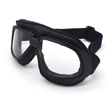ac0a00a895 Gafas de Aviador Vintage transparente WWII RAF gafas de sol de piloto Retro  gafas de motociclista