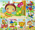 ZSH Crystal Diamond Mosaic Sticker Painting Kids Children Kindergarten Educational Puzzles DIY Crafts Toys - 10PCS Different
