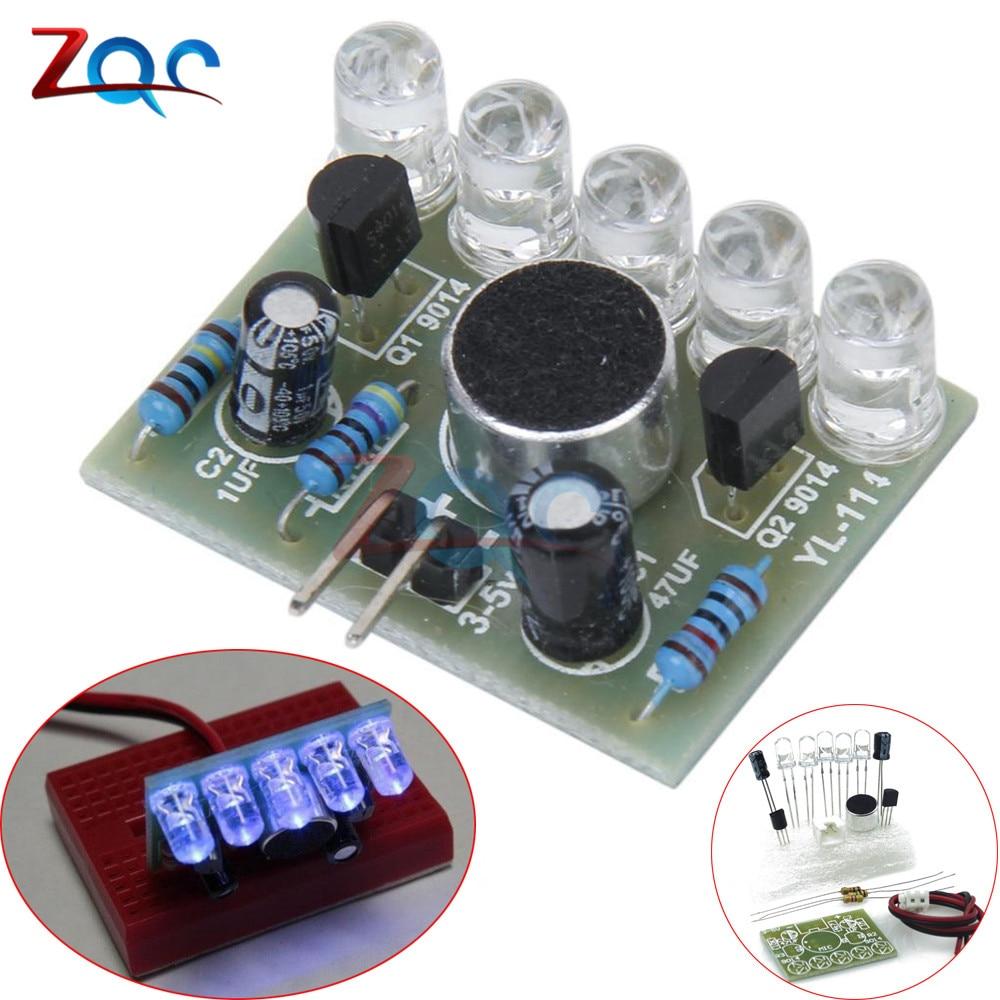 Voltage DC 3V-5.5V LED Sound Control Melody Lamp Sensor Electronic Production DIY Kits Suite Material FR-4 A Fiberglass board