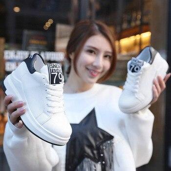 2017 basket femme nouvelles femmes chaussures de course en cuir pu style britannique baskets chaussures de sport athlétique pour les femmes zapatos mujer