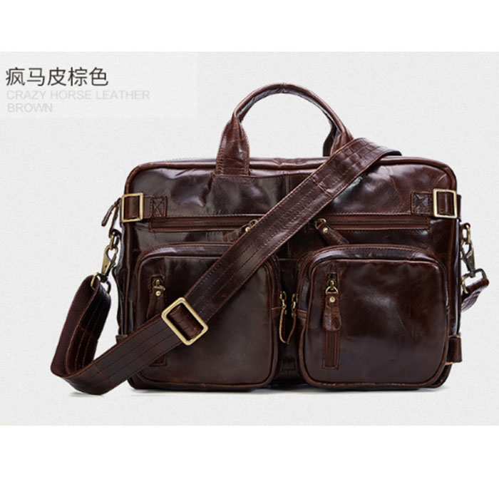 Genuine Leather Men Handbags Carry on Luggage Travel Duffle Bag Traveling Shoulder Brown Crazy Horse Messenger Crossbody TotesGenuine Leather Men Handbags Carry on Luggage Travel Duffle Bag Traveling Shoulder Brown Crazy Horse Messenger Crossbody Totes