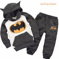 Baby Boys Clothes Set Boy Girls Winter Clothes Set Children's Clothing Suits Batman Kids Hoodies + Pants Children Sports Suit children three piece two pieces of clothing a pair of pants boys and girls baby suits baby cotton suit high end suits