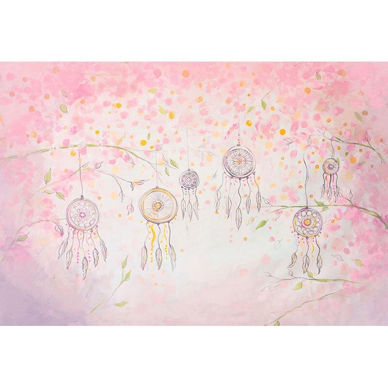 R3902 41 De Descontofundo De Fotografia De Vinil Desenhos Animados Flores Rosa Decorações De Festa De Chuveiro De Bebê Pano De Fundo Personalizar