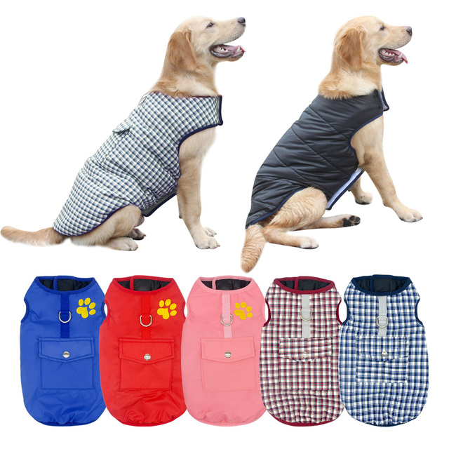 Chihuahua Pug Dog Clothes Plaid Winter Pet Dog Clothing Coat Warm For Small Medium Large Dogs Cats Yorkshire Puppy Coat XS-3XL