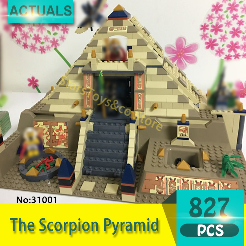 31001 827Pcs Movie Series The Scorpion Pyramid Model Building Blocks Set  Bricks toys For Children Gift compatible 7327 hc9009 1650pcs pikachu cartoon movie series without original box building blocks diamond bricks toys compatible with loz