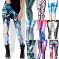 Design Punk Rock Fashion Women  Digital print Galaxy Leggings Alice in Wonderland Blood Camouflage Print Pants Legging  GL-22