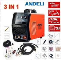 Functional 3 IN 1 Welding Machine Digital Display TIG/ MMA/ CUT 220V Plasma Cutter Cutting Welder& Accessories 50/ 60Hz CT 418D