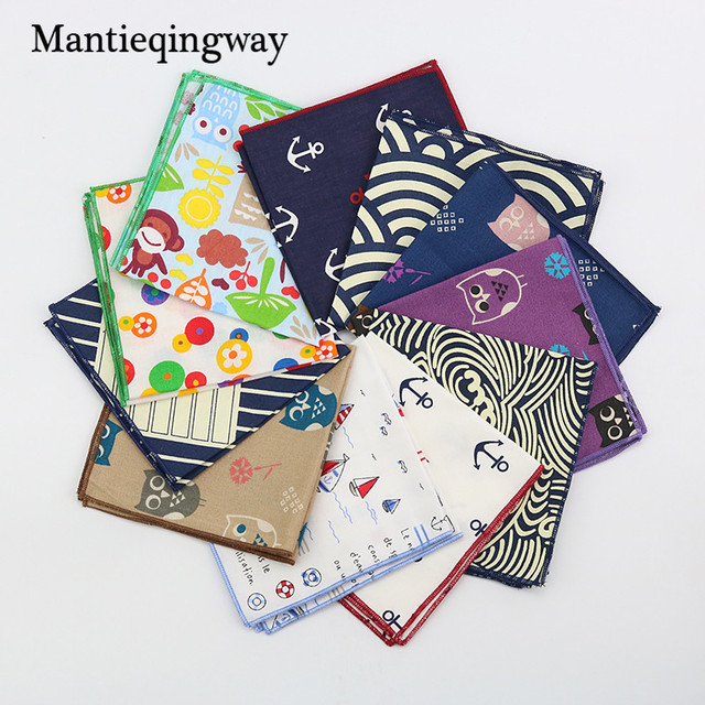 a0ac731c1847 Mantieqingway High Quality Men s Cotton Handkerchiefs Navy Blue Floral  Handmade Pocket Square Men Suit Geometric Pocket