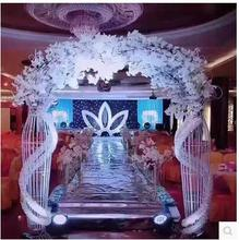 The new wedding prop vase arch European style silk flower round archway entrance decoration inflatable flower archway
