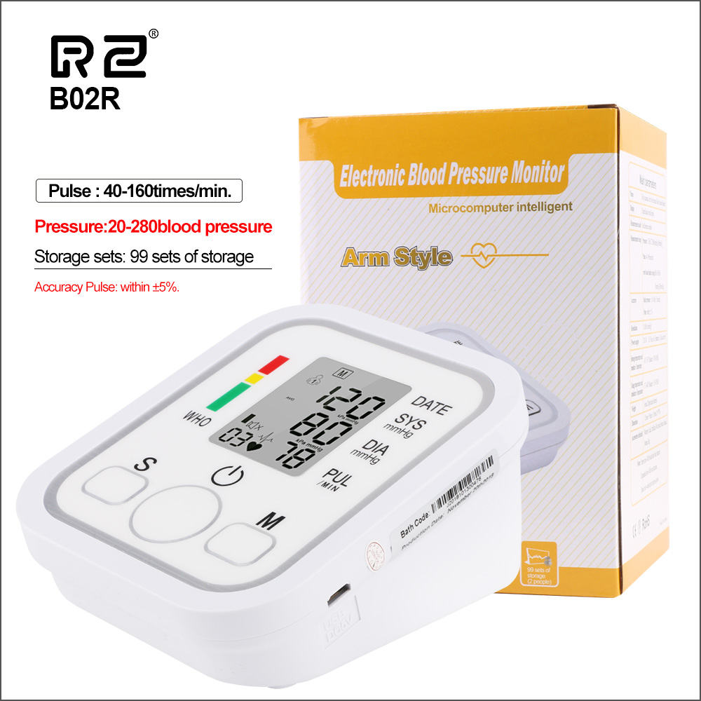 RZ Blood Pressures Automatic Digital Upper Arm Blood