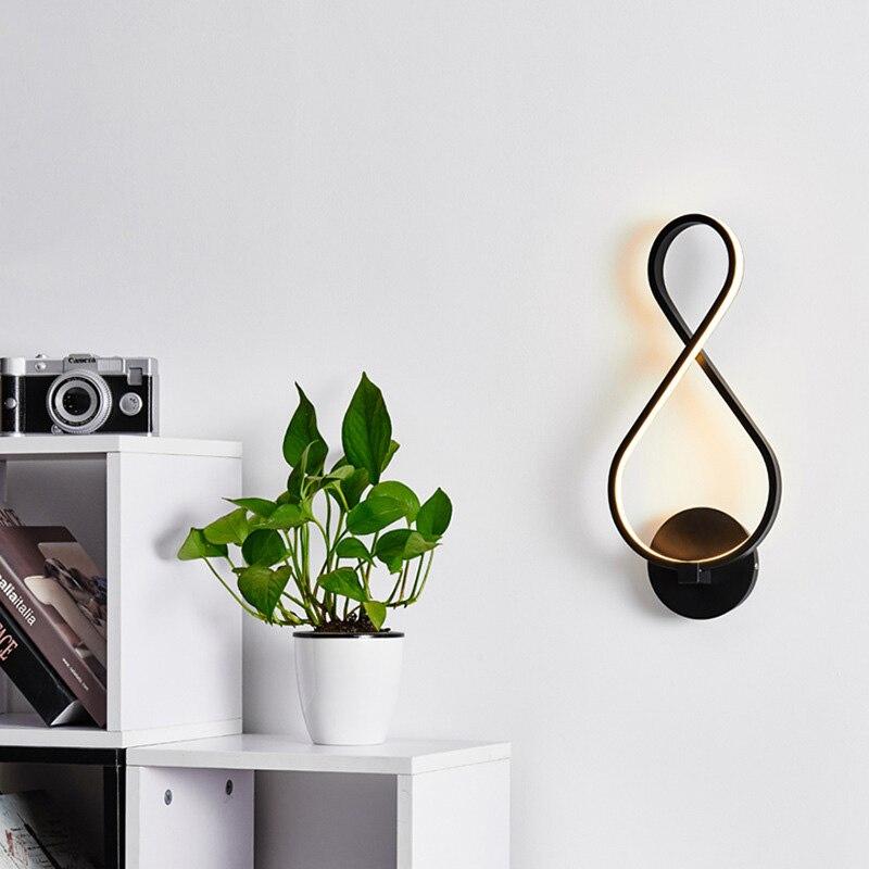8-shaped LED Wall Lamps Nordic Headboard Wall Lamps Living Room Restaurant Corridor TN88 Салфетницы